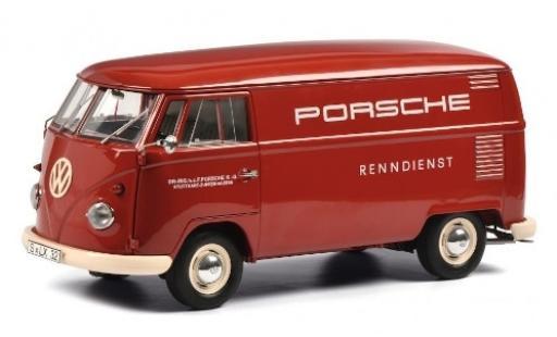Volkswagen T1 1/18 Schuco Kasten Porsche Renndienst modellino in miniatura
