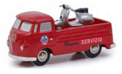 Volkswagen T1 1/90 Schuco Pritsche Servizio Vespa avec Vespa coche miniatura