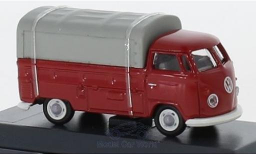Volkswagen T1 1/87 Schuco b Pritsche rot/grau mit Plane