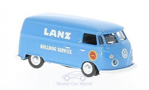 Volkswagen T1 B 1/87 Schuco c bleue Lanz Bulldog Service Kastenwagen miniature