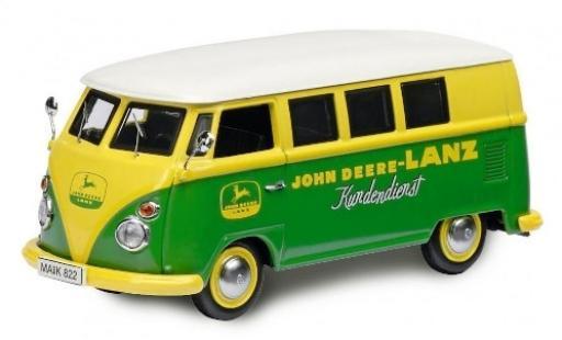 Volkswagen T1 1/87 Schuco c Bus John Deere-Lanz Kundendienst modellino in miniatura
