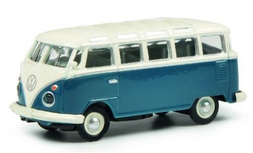 Volkswagen T1 1/87 Schuco c Samba blu/bianco modellino in miniatura