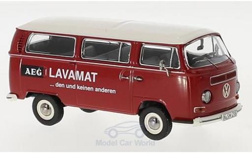 Volkswagen T2 B 1/43 Schuco a us AEG Lavamat modellino in miniatura