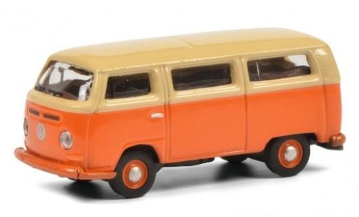 Volkswagen T2 1/87 Schuco a Bus orange/beige miniature
