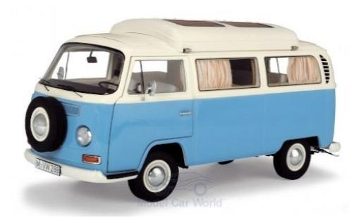 Volkswagen T2 1/18 Schuco a Campingbus blue/white diecast