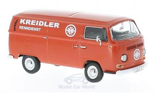 Volkswagen T2 A 1/43 Schuco a Kreidler Renndienst Kastenwagen mit nhänger und Kreidler Florett diecast model cars