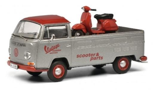 Volkswagen T2 1/43 Schuco a Pritsche Vintage Scooter Service avec charge Vespa PX diecast model cars