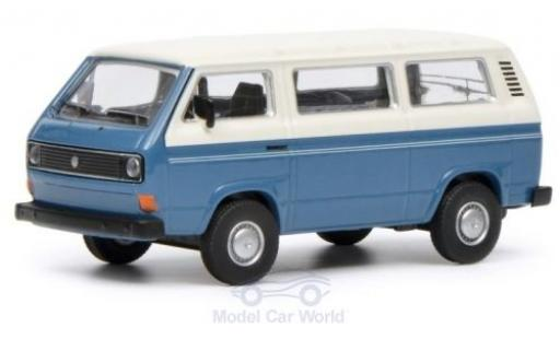 Volkswagen T3 1/64 Schuco Bus blue/white diecast model cars