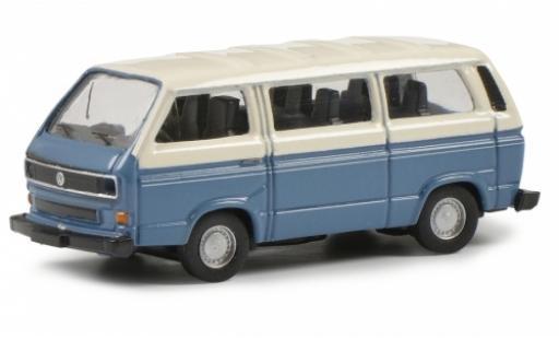 Volkswagen T3 1/87 Schuco b Bus L bleue/beige miniature