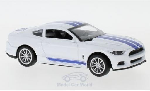 Shelby Mustang 1/43 Shelby Collectibles GT350 blanche/bleue 2016 miniature