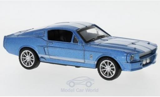 Shelby Mustang 1/43 Shelby Collectibles GT500 metallise bleue/blanche 1967 miniature