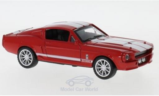 Shelby Mustang 1/43 Shelby Collectibles GT500 rouge/blanche 1967 miniature