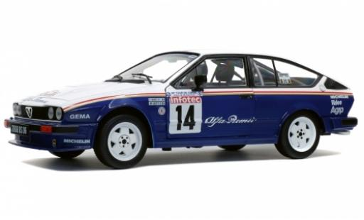 Alfa Romeo GT 1/18 Solido V6 No.14 Rothmans Rallye WM Tour de Corse 1986 mit Decals Y.Loubet/J-M.Andrie diecast model cars