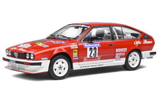Alfa Romeo GT 1/18 Solido V6 No.23 GEMA Racing Rallye WM Tour de Corse 1985 y compris les Decals Y.Loubet/J.B.Vieu miniature