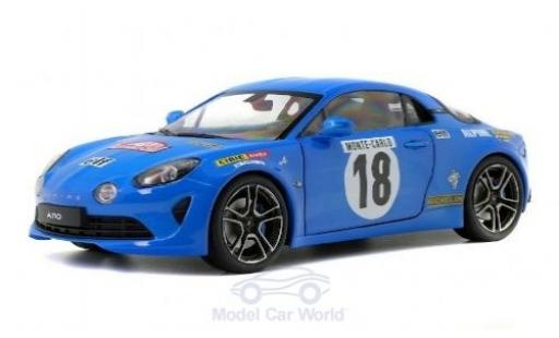 Alpine A110 1/18 Solido Premiere Edition No.18 Rallye Monte Carlo Historic 2018 diecast model cars