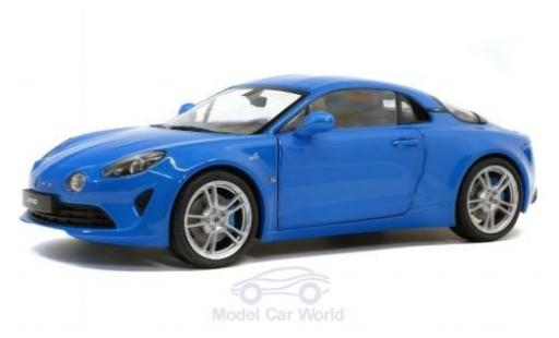 Alpine A110 1/18 Solido Pure metallise blue 2018 diecast model cars