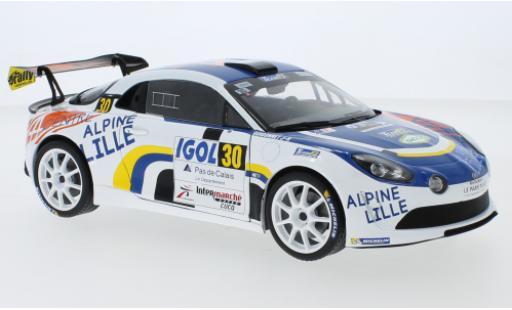 Alpine A110 1/18 Solido RGT No.30 Rallye du Touquet 2020 F.Delecour miniature
