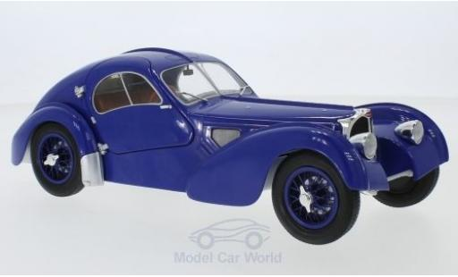 Bugatti 57 1/18 Solido Type SC Atlantic bleue RHD 1938 miniature