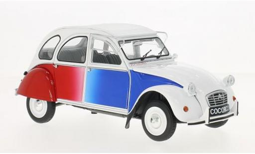 Citroen 2CV 1/18 Solido 2 CV Cocorico white/Dekor 1986 diecast model cars