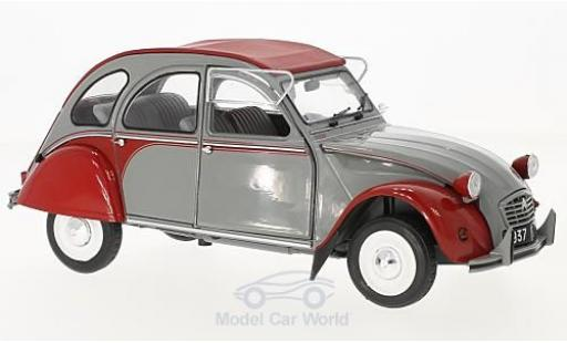 Citroen 2CV 1/18 Solido Dolly grise/rouge 1985 miniature