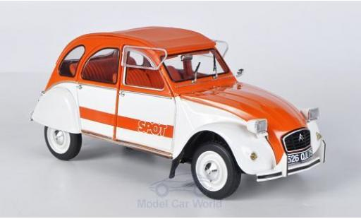 Citroen 2CV 1/18 Solido Spot orange/white 1976 diecast model cars