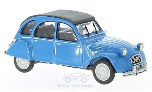 Citroen 2CV 1/43 Solido 6 blue 1978 diecast model cars