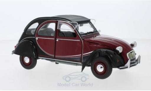 Citroen 2CV 1/18 Solido 6 Charleston red/black 1982 diecast model cars