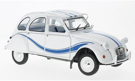 Citroen 2CV 1/18 Solido 6 France 3 blanche/bleue 1983 miniature