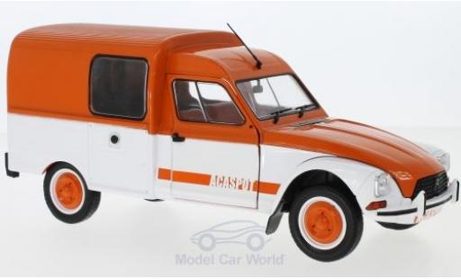 Citroen Acadiane 1/18 Solido Acaspot orange/beige 1984 diecast