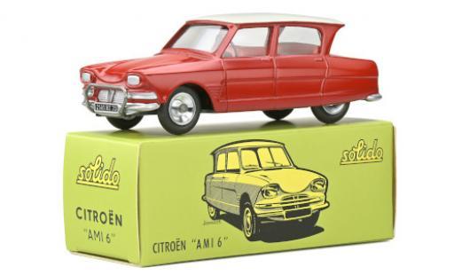 Citroen Ami 6 1/43 Solido rouge/blanche miniature