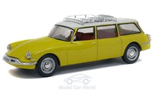 Citroen DS 1/43 Solido 19 Break yellow/white 1960 diecast