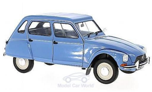 Citroen Dyane 1/18 Solido 6 blue 1974 diecast model cars