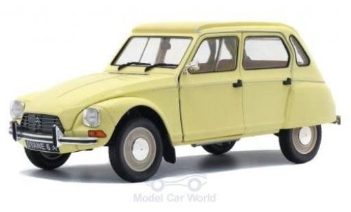 Citroen Dyane 1/18 Solido 6 yellow 1967 diecast model cars