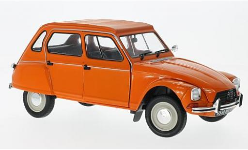 Citroen Dyane 1/18 Solido 6 orange 1967 diecast model cars