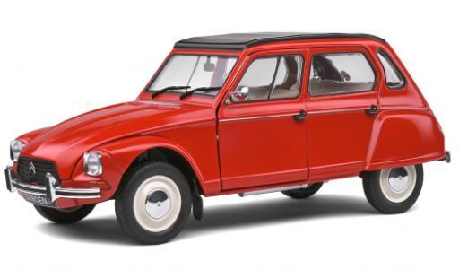 Citroen Dyane 1/18 Solido 6 red 1968 diecast model cars