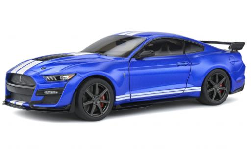 Ford Mustang 1/18 Solido Shelby GT 500 Fast Track metallise bleue/blanche 2020 miniature