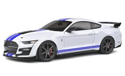 Ford Mustang 1/18 Solido Shelby GT 500 Fast Track white/matt-blue 2020 diecast model cars