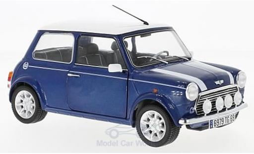 Mini Cooper S 1/18 Solido 1.3i port Pack metallise blue diecast model cars