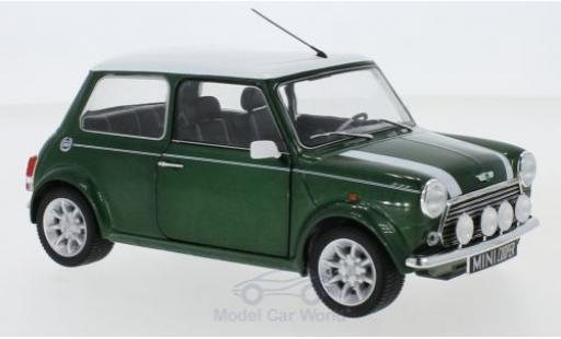 Mini Cooper 1/18 Solido 1.3i Sport Pack metallise green/white 1997 diecast model cars