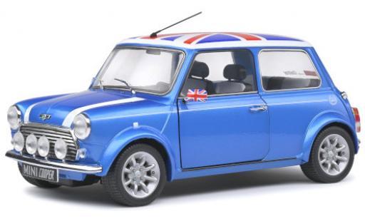 Mini Cooper 1/18 Solido Sport metallise bleue/Dekor 1997 miniature