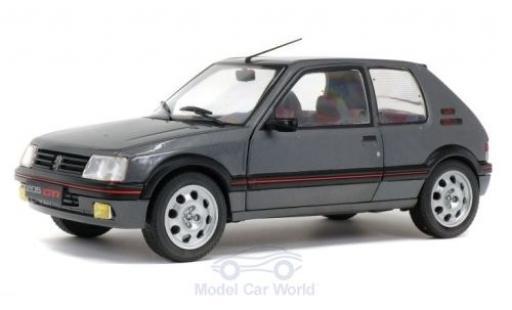 Peugeot 205 1/18 Solido 1.9 GTi métallisé grise 1988 miniature