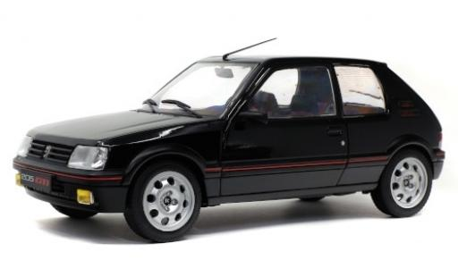 Peugeot 205 1/18 Solido 1.9 GTI Mk2 black diecast model cars