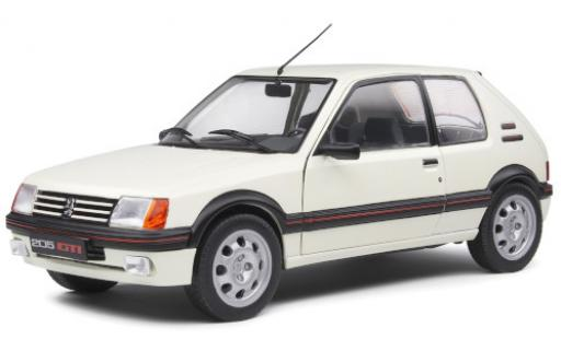 Peugeot 205 1/18 Solido GTI 1.9 white 1988 diecast model cars