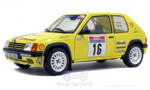 Peugeot 205 1/18 Solido Rallye No.16 Rallye WM Tour de Corse 1990 F.Doenlen/E.Merciol diecast model cars