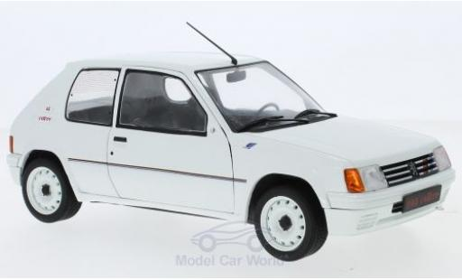 Peugeot 205 Rallye 1/18 Solido white 1988 diecast model cars
