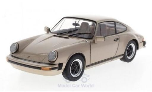 Porsche 930 1/18 Solido 911  3.2 Carrera metallise beige 1977 miniature
