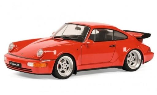 Porsche 964 Turbo 1/18 Solido 911  3.6 rouge 1990 miniature