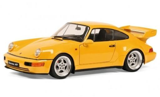 Porsche 964 RS 1/18 Solido 911  3.8 Carrera jaune 1990 miniature