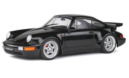 Porsche 964 Turbo 1/18 Solido 911  3.6 noire 1990 miniature