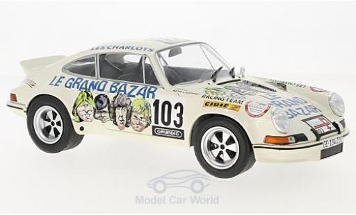 Porsche 911 SC 1/18 Solido RSR No.103 Le Grand Bazar Tour de France Auto 1973 H.Bayard/R.Ligonnet diecast model cars